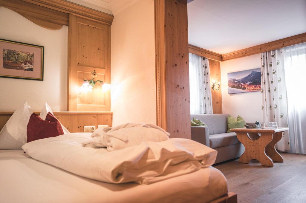 Hotelzimmer Enzian im Haupthaus