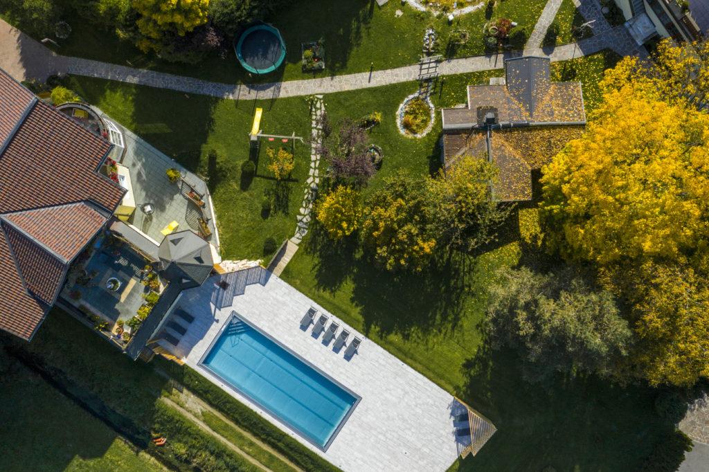 Gartenpool im Hotel Schartner in Altenmarkt-Zauchensee
